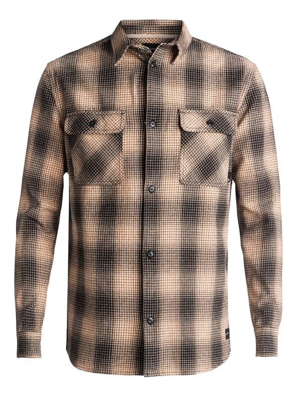 0 Venice Vice Flannel Long Sleeve Shirt Orange EQYWT03546 Quiksilver