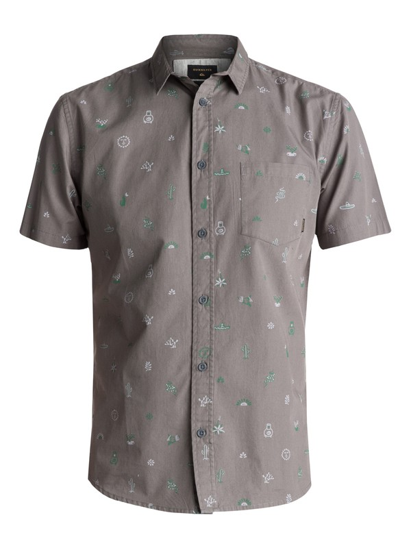0 Baja Moment Mini Motif Short Sleeve Shirt Black EQYWT03566 Quiksilver