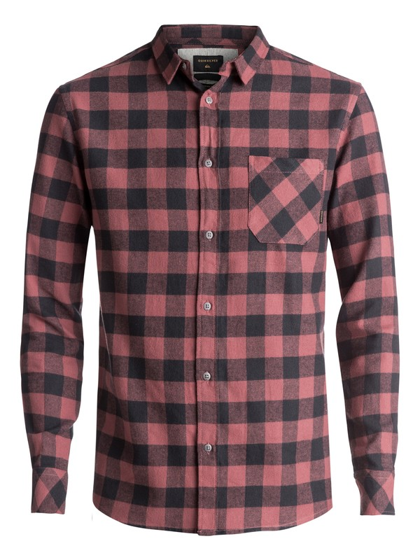 0 Motherfly Flannel Long Sleeve Shirt Brown EQYWT03573 Quiksilver