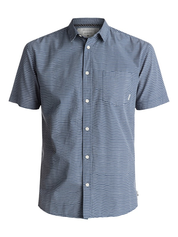 0 Heat Wave Short Sleeve Shirt Blue EQYWT03576 Quiksilver