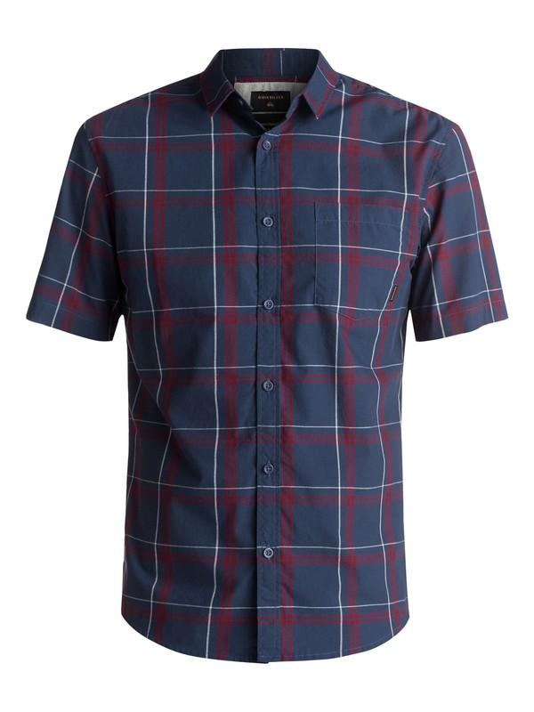 0 Haten Rise Short Sleeve Shirt Blue EQYWT03582 Quiksilver