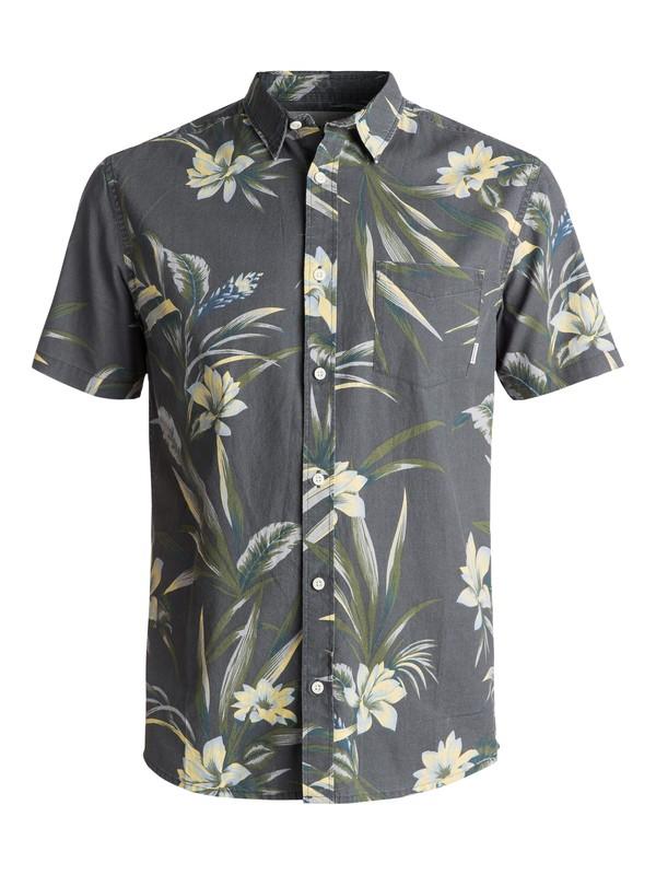 0 Men's Longa Locka Short Sleeve Shirt Black EQYWT03608 Quiksilver