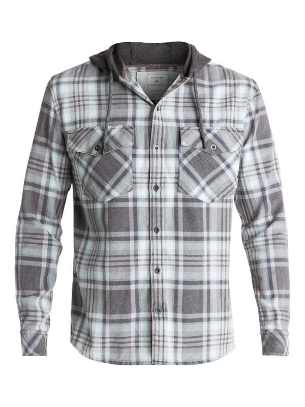 0 Men's Tang Hooded Long Sleeve Shirt Blue EQYWT03614 Quiksilver