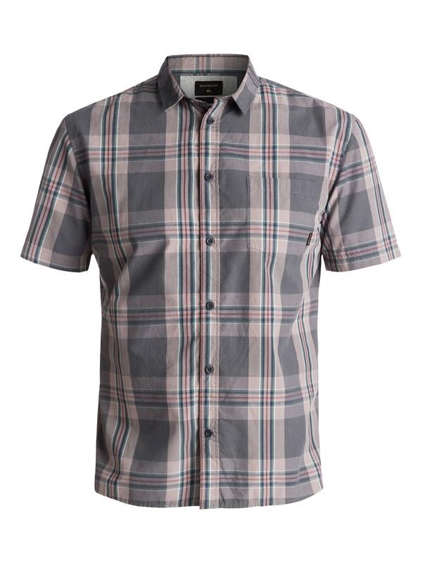 0 Men's Tidal Ridge Short Sleeve Shirt Black EQYWT03617 Quiksilver