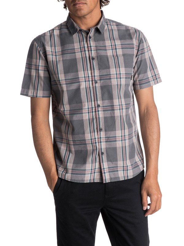 0 Men's Tidal Ridge Short Sleeve Shirt Black EQYWT03617 Quiksilver