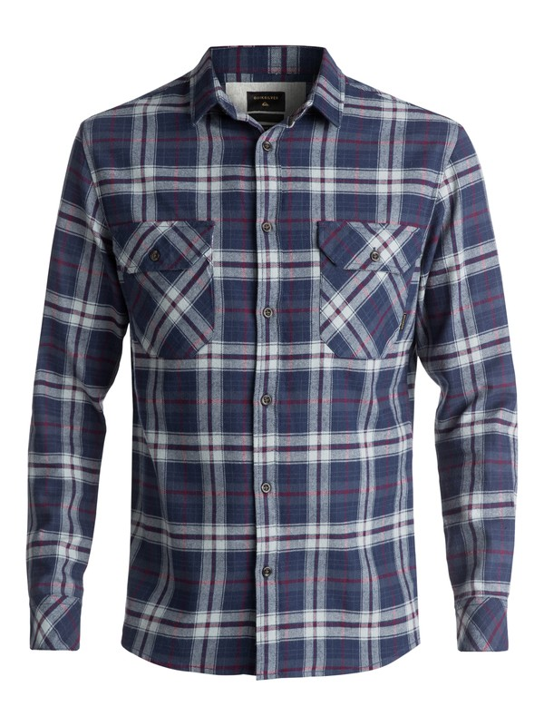0 Men's Fitzspeere Long Sleeve Shirt Blue EQYWT03624 Quiksilver