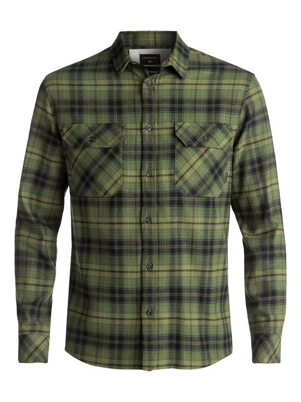 0 Men's Fitzspeere Long Sleeve Shirt Green EQYWT03624 Quiksilver