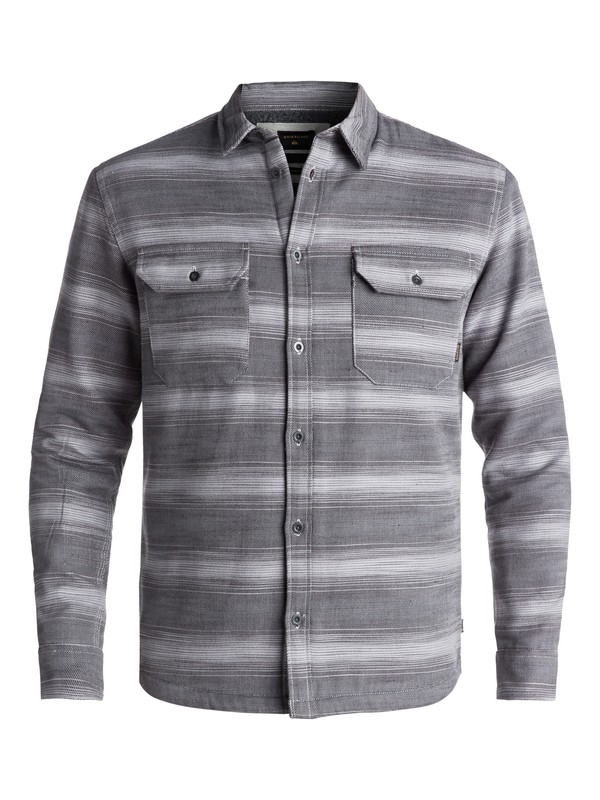 0 Men's Dusky Town Sherpa Long Sleeve Overshirt Black EQYWT03625 Quiksilver