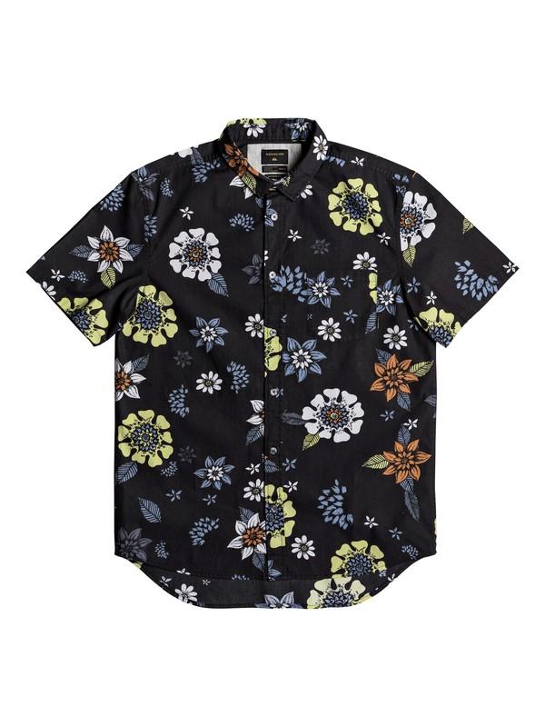 0 Sunset Floral Short Sleeve Shirt Black EQYWT03634 Quiksilver
