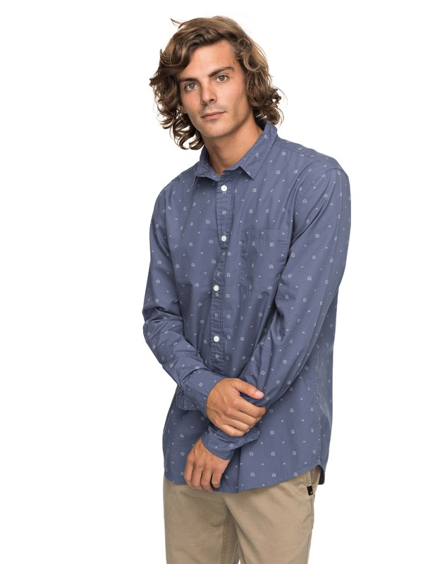 0 Kamanoa - Long Sleeve Shirt Blue EQYWT03635 Quiksilver