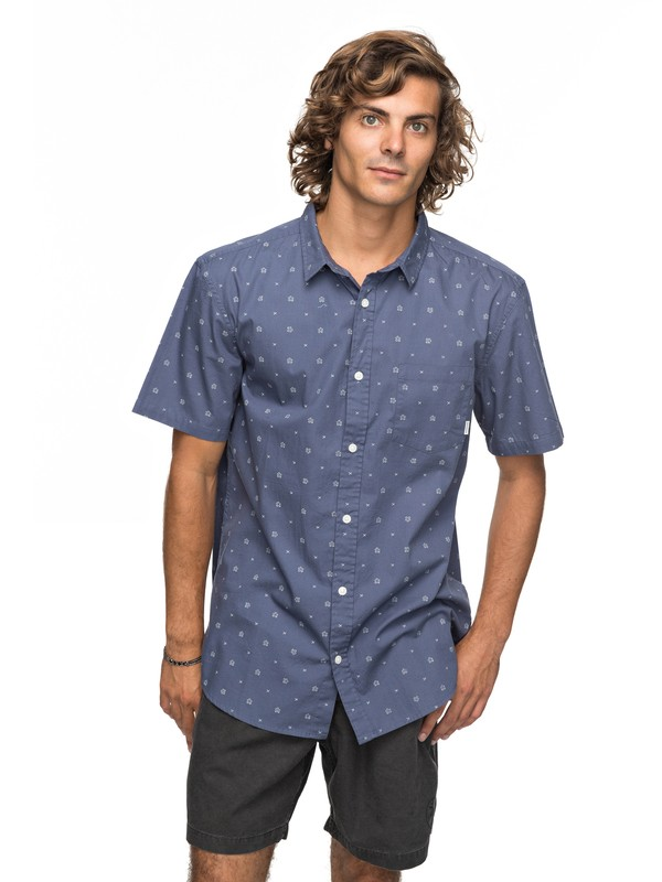 0 Kamanoa Short Sleeve Shirt Blue EQYWT03636 Quiksilver