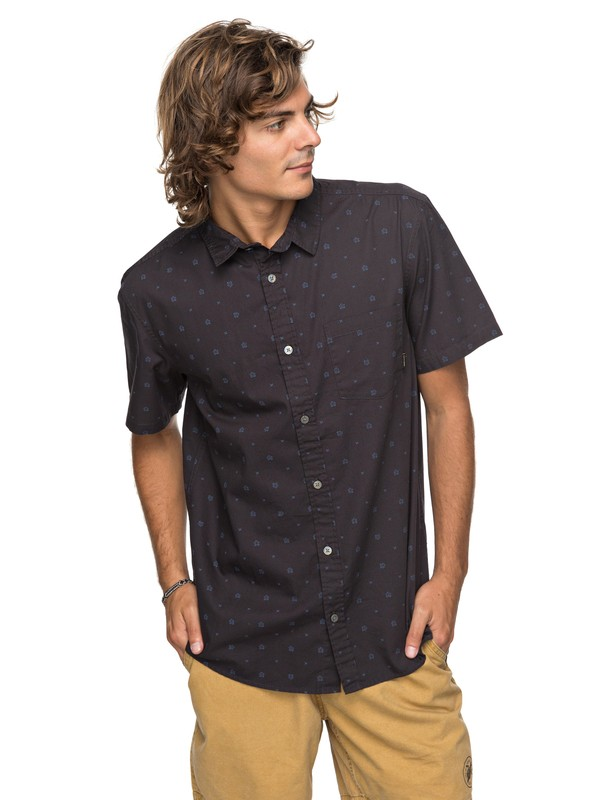0 Kamanoa Short Sleeve Shirt Black EQYWT03636 Quiksilver