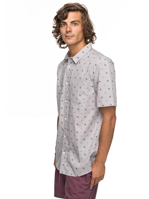 0 Kamanoa Short Sleeve Shirt Grey EQYWT03636 Quiksilver