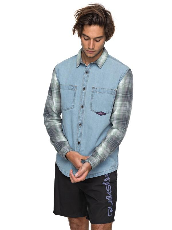 0 Dumb & Surfer - Chemise à manches longues Bleu EQYWT03640 Quiksilver