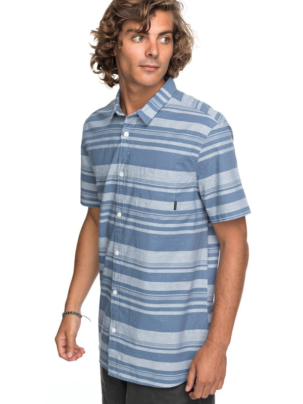 0 Good Wall Short Sleeve Shirt Blue EQYWT03645 Quiksilver