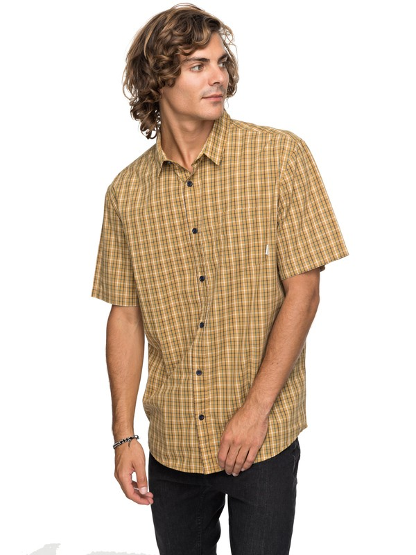 0 Moon Rythm Short Sleeve Shirt Brown EQYWT03667 Quiksilver