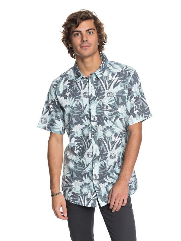 0 Hippy Beach - Short Sleeve Shirt Blue EQYWT03684 Quiksilver