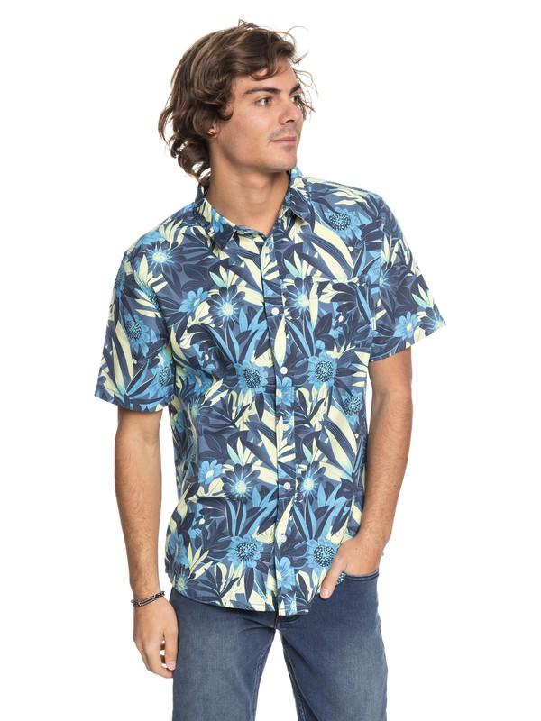 0 Hippy Beach - Short Sleeve Shirt Blue EQYWT03684 Quiksilver