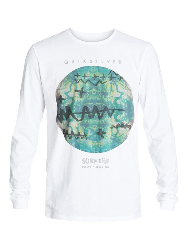 0 Garment Dyed Surf Tripping - T-shirt manches longues  EQYZT03407 Quiksilver