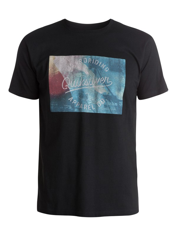 0 Classic Palm Wave Tee  EQYZT03439 Quiksilver