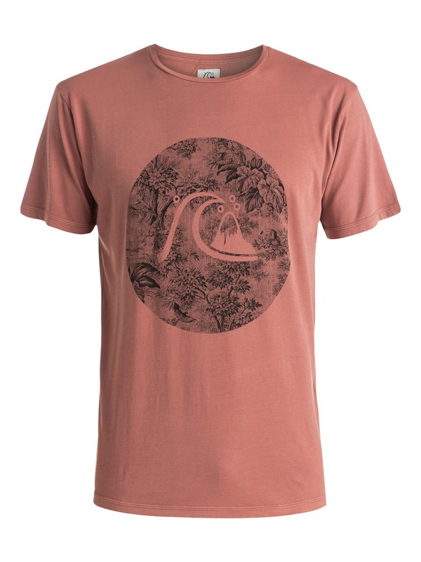 0 Garment Dyed Sunset Tunels - T-shirt Marron EQYZT03610 Quiksilver