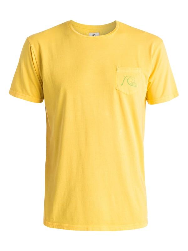0 Por Favor - T-shirt Jaune EQYZT03617 Quiksilver
