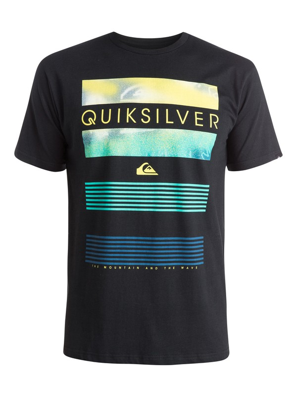 0 Classic Line Up - T-shirt Noir EQYZT03623 Quiksilver