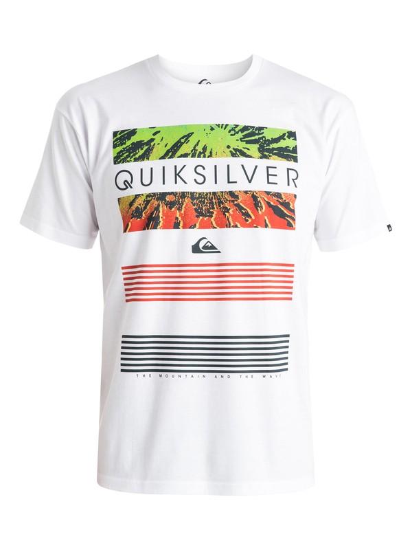 0 Classic Line Up - T-shirt Blanc EQYZT03623 Quiksilver