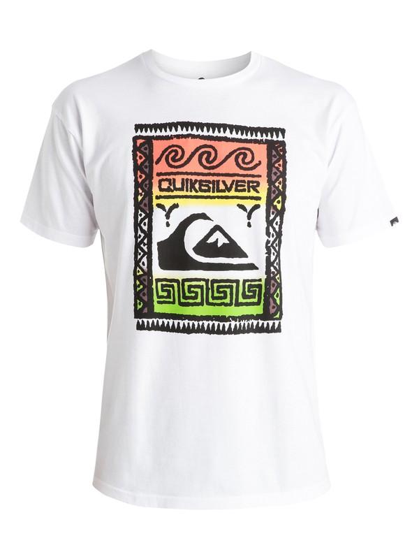 0 Classic Wallstreet - T-shirt Blanc EQYZT03625 Quiksilver