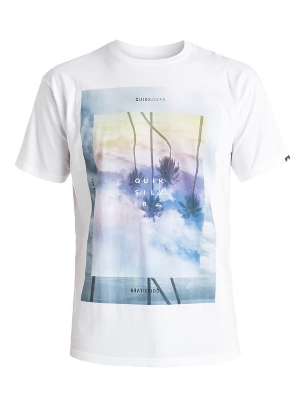 0 Classic Dark Palms - T-shirt Blanc EQYZT03626 Quiksilver