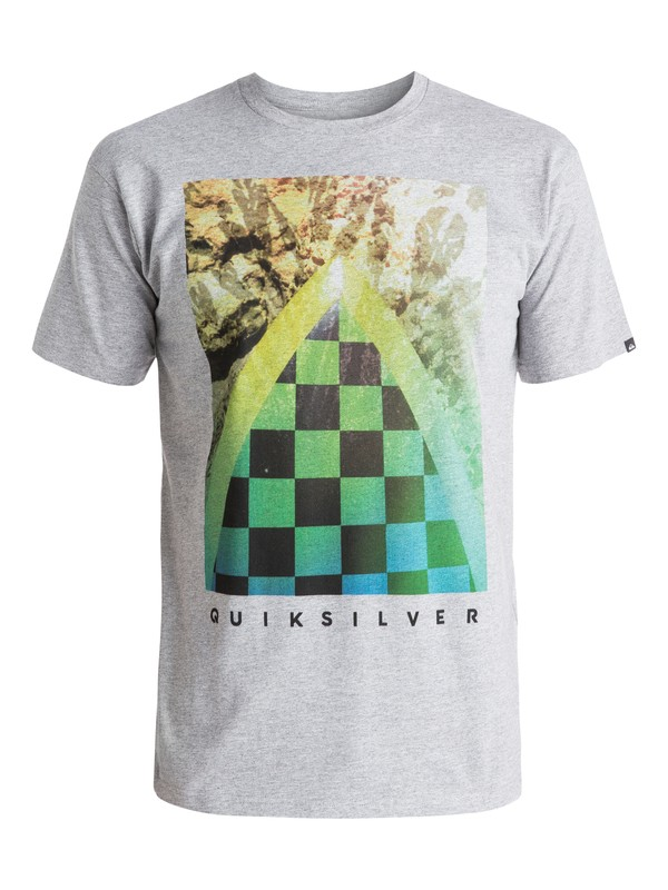 0 Classic Checker Channel - T-shirt Gris EQYZT03631 Quiksilver
