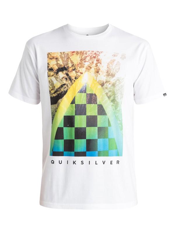 0 Classic Checker Channel - T-shirt Blanc EQYZT03631 Quiksilver