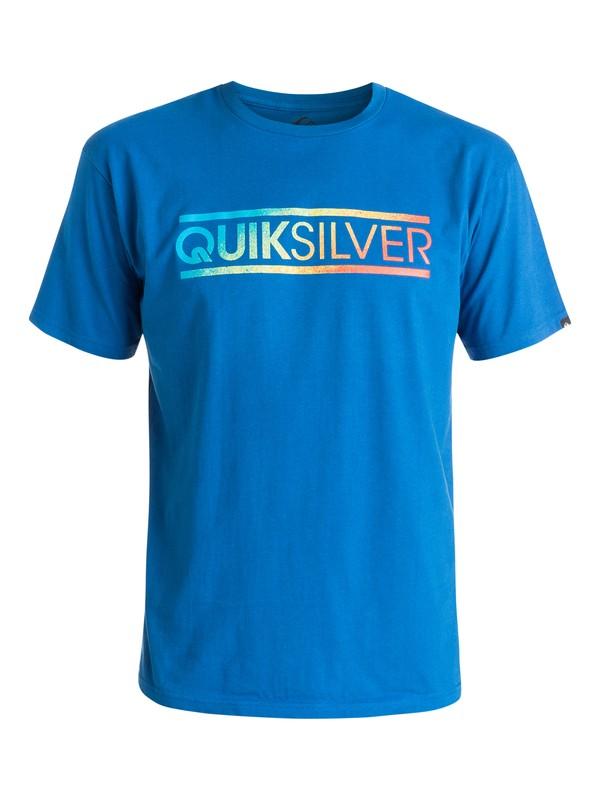 0 Classic Filled In - T-shirt Bleu EQYZT03636 Quiksilver