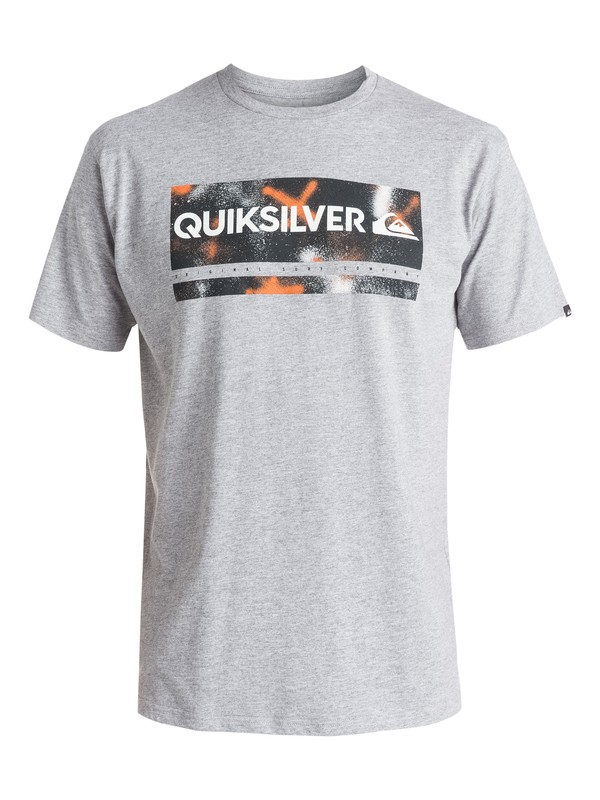 0 Classic Check My Spray - T-shirt Gris EQYZT03642 Quiksilver