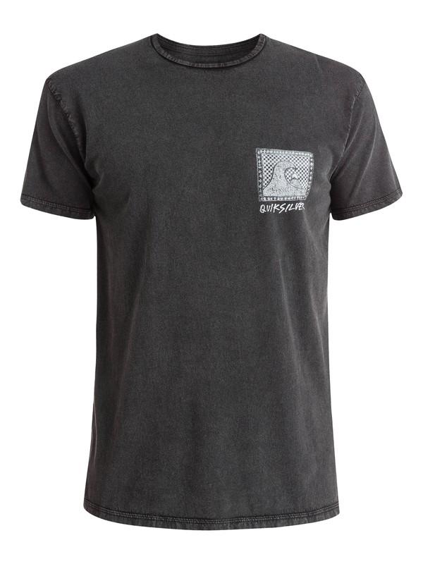 0 Checkered Past - T-shirt Noir EQYZT03643 Quiksilver