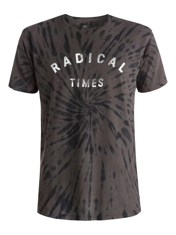 0 Radical Tie - T-shirt Noir EQYZT03644 Quiksilver