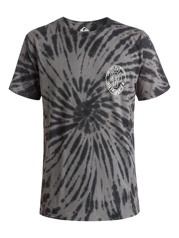0 Live And Dye - T-shirt Noir EQYZT03647 Quiksilver