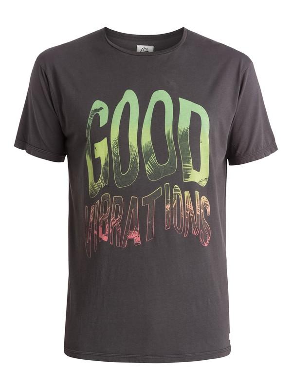 0 Garment Dyed Good Vibrations - T-shirt Noir EQYZT03656 Quiksilver