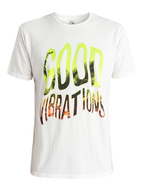0 Garment Dyed Good Vibrations - T-shirt Blanc EQYZT03656 Quiksilver