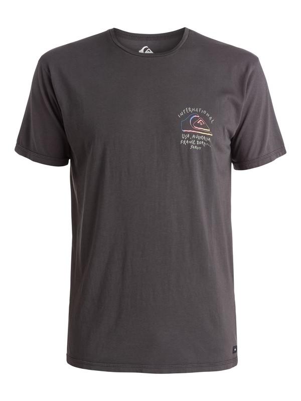 0 World Force - T-shirt Noir EQYZT03660 Quiksilver