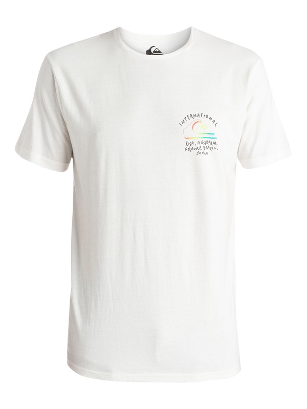 0 World Force - T-shirt Blanc EQYZT03660 Quiksilver