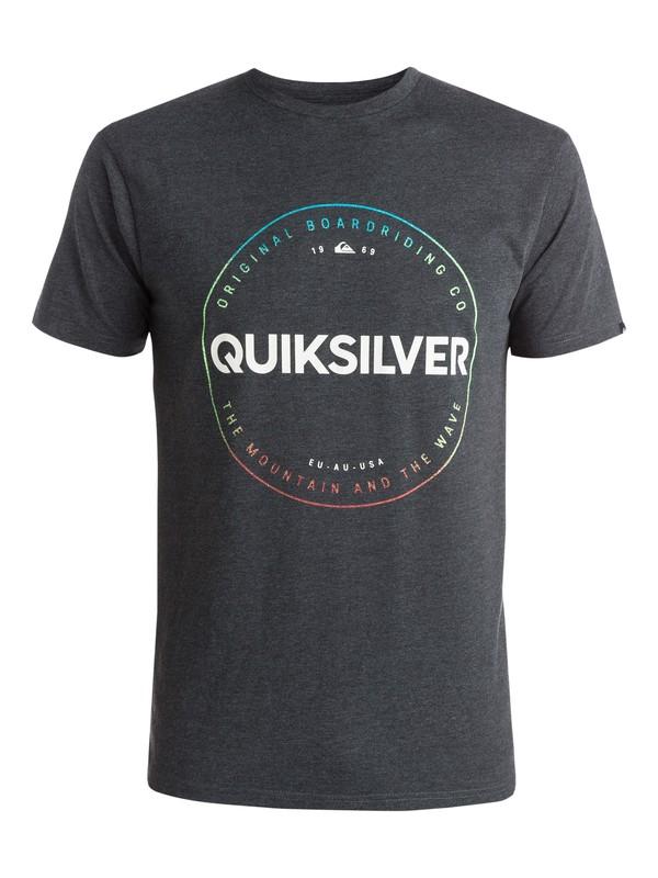 0 Heather Timepiece - T-shirt Noir EQYZT03663 Quiksilver