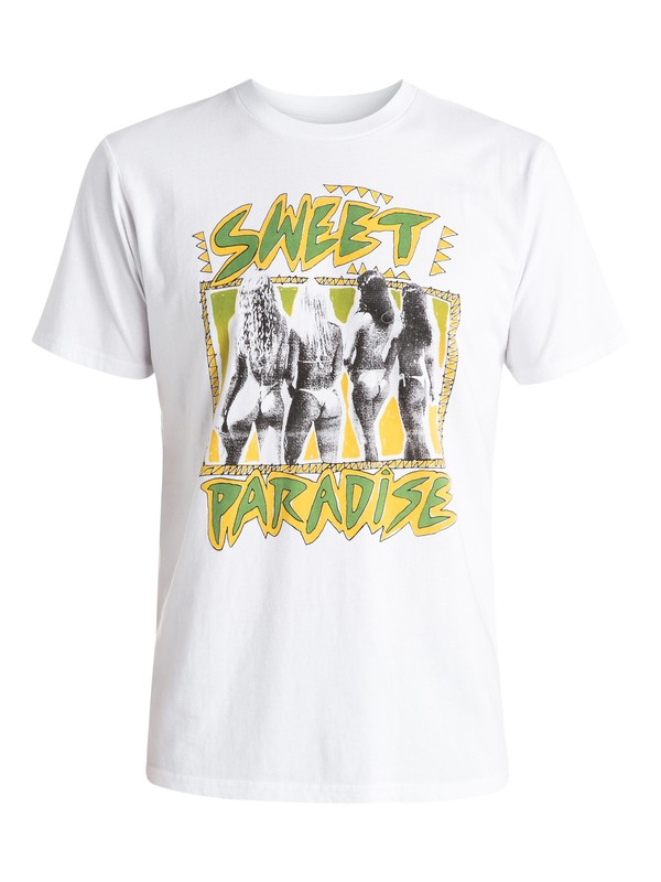 0 Paradise - T-shirt Blanc EQYZT03664 Quiksilver