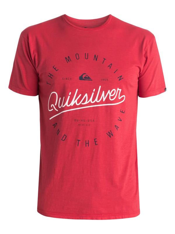 0 Slub Scriptville - T-shirt Rouge EQYZT03686 Quiksilver