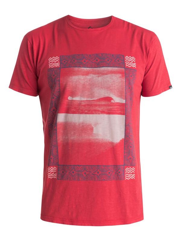 0 Slub Split Screen - T-shirt Rouge EQYZT03687 Quiksilver