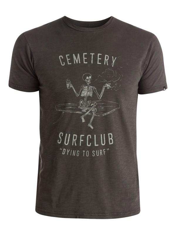 0 Slub Cemetery - T-shirt Noir EQYZT03689 Quiksilver