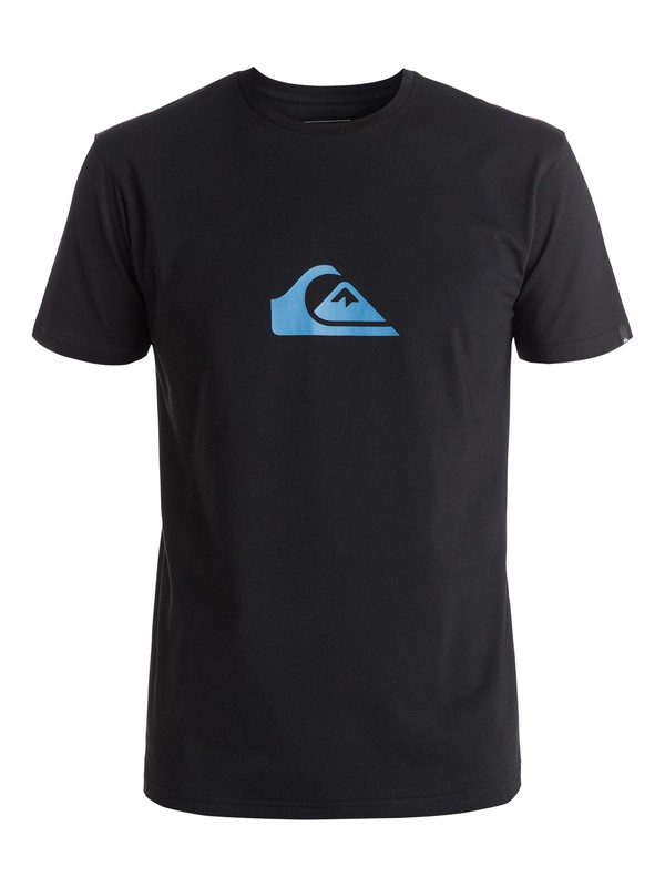 0 Classic Everyday Mountain & Wave - Tee-Shirt Noir EQYZT03813 Quiksilver