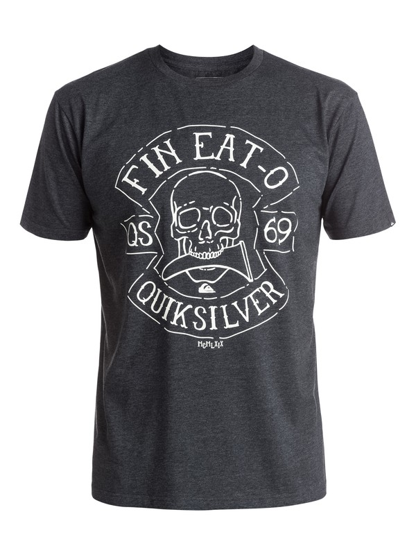 0 Heather Fin Eat - Tee-Shirt Noir EQYZT03894 Quiksilver