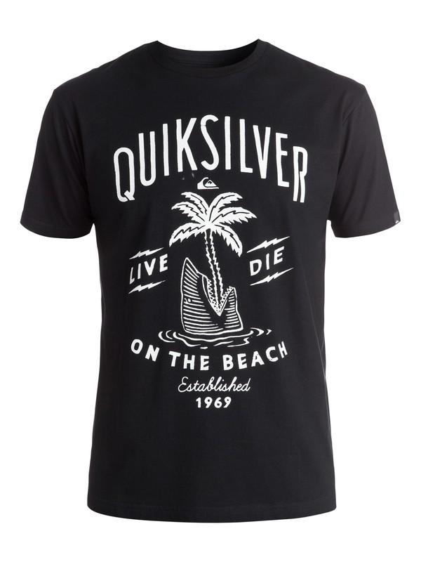 0 Classic Shark Island - Tee-Shirt Noir EQYZT03904 Quiksilver