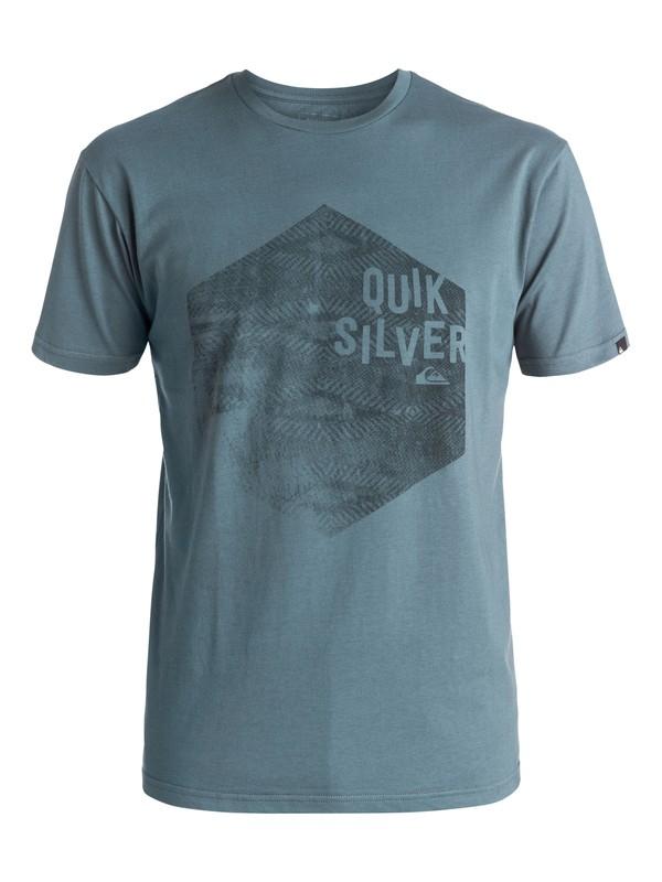 0 Classic Jumbled Hex - Tee-Shirt Bleu EQYZT03915 Quiksilver
